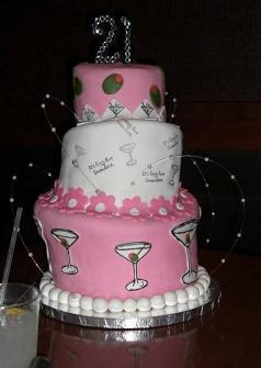 Happy 21St Birthday Cakes http://www.piece-a-cake.com/cake-decorating-ideas.html