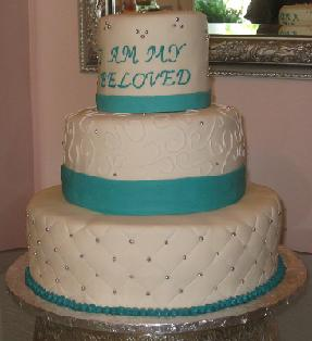 3 tier wedding cake image
