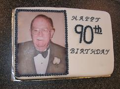 90th birthday picture cake image