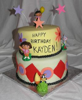 Dora birthday cake image