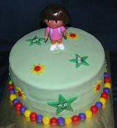Dora the explorer cake image