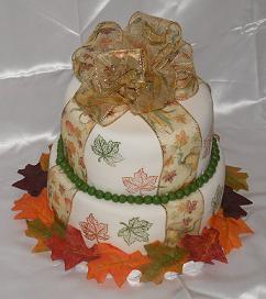 fall theme cake image