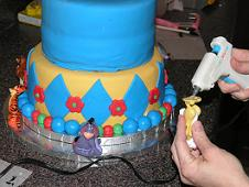 dowel rod in cake image