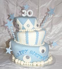 fondant covered cake image