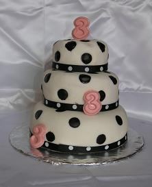 3 tier birthday cake image