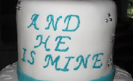 and he is mine cake image
