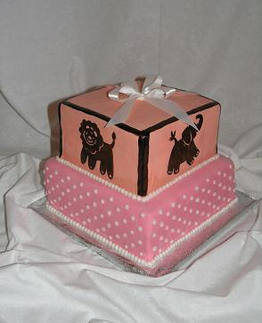 baby shower zoo cake image
