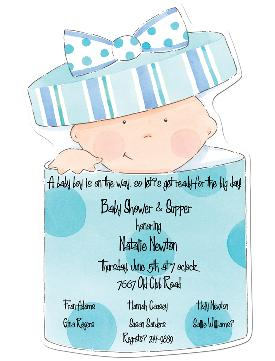 baby shower invitation image