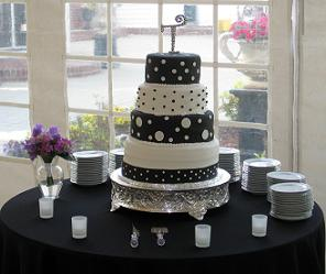 White  Black Dress on The Black And White Wedding Cakes Design Was Unique And One Of A Kind