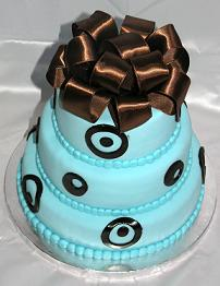 blue brown shower cake image
