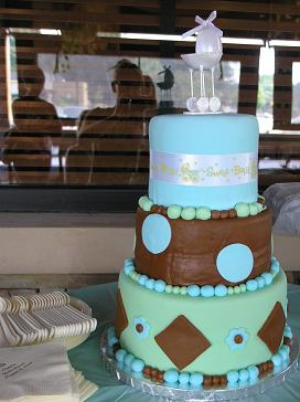 fondantbaby shower cake image