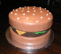 burger cake image