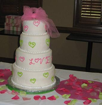 cake with hearts image