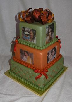 picture birthday cake was made for a wonderful lady from Winston-Salem ...