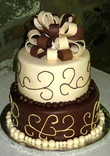 chocolate wedding cakes image