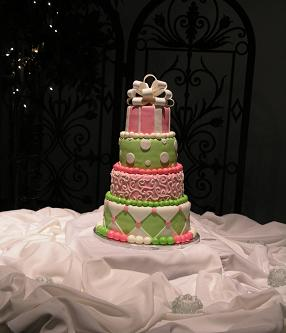 colorful wedding cake image