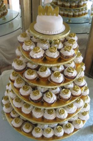 cupcake wedding cake idea image