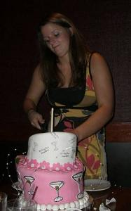 cutting cake image