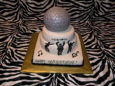 Chaz B. from Holly Springs, NC ordered this 40th birthday disco cake ...