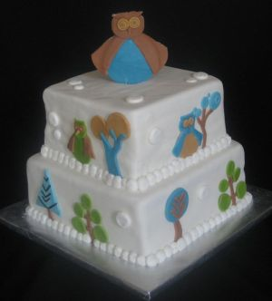 dwell baby shower cake image