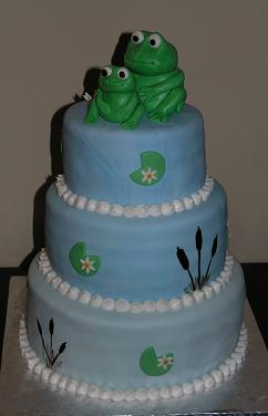 frog baby shower cake image