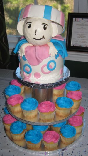 gender reveal cupcakes image