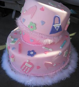 girls 8th birthday cake idea image
