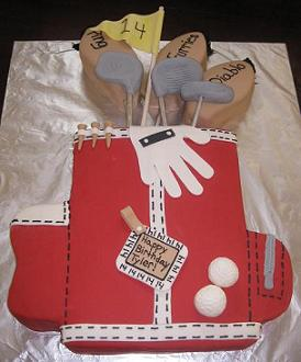 golf birthday cakes image