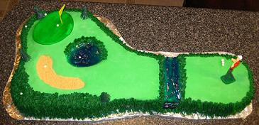 golf cake image