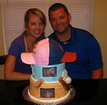 his and her birthday cake image