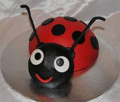 lady bug cake image
