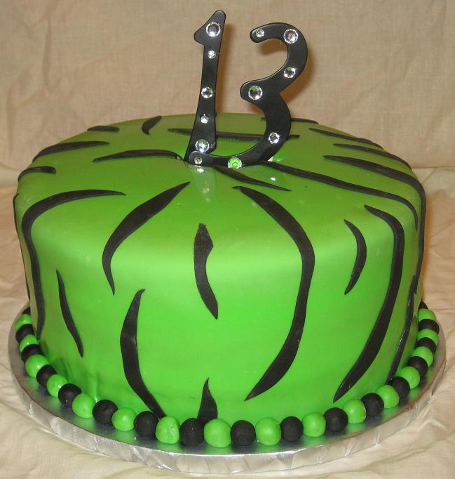13th Birthday Cake Image