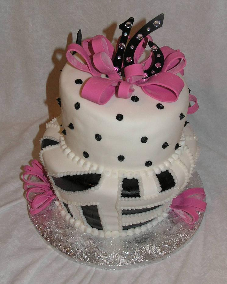 This 16th birthday cake was ordered by a loving mom for her daughter