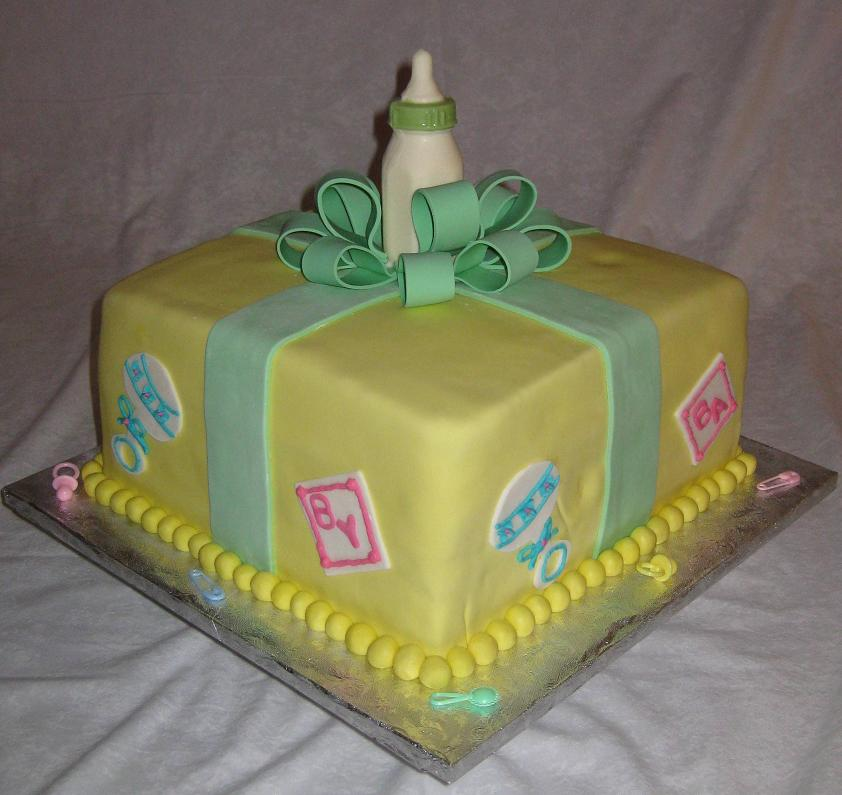 Baby shower cakes pictures and ideas for Baby shower cake decoration ideas