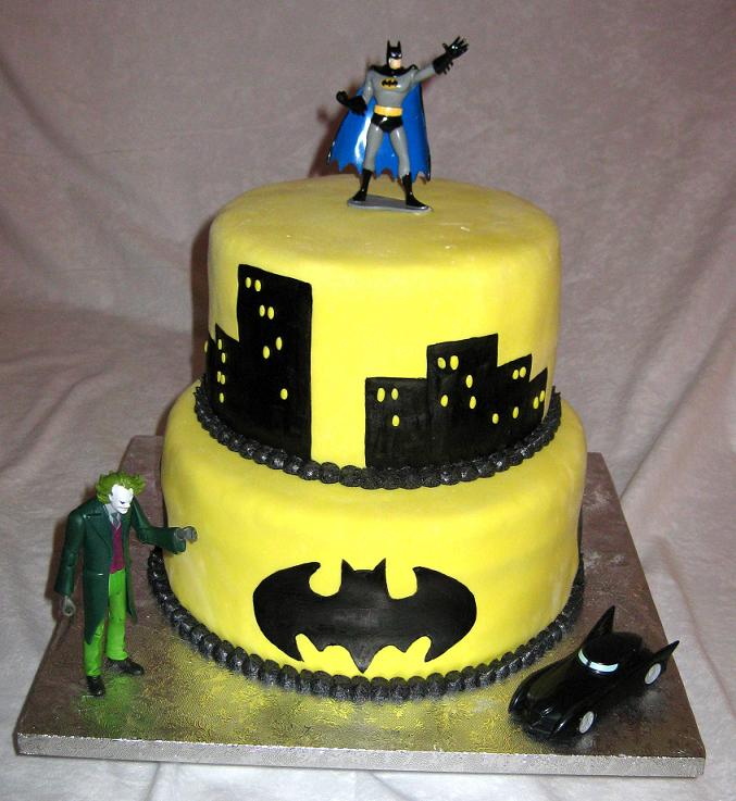 This Batman cake was ordered