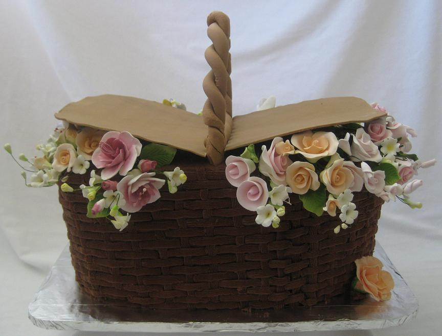 How To Make A Basket Of Flowers Cake : Bridal shower cakes pictures ideas