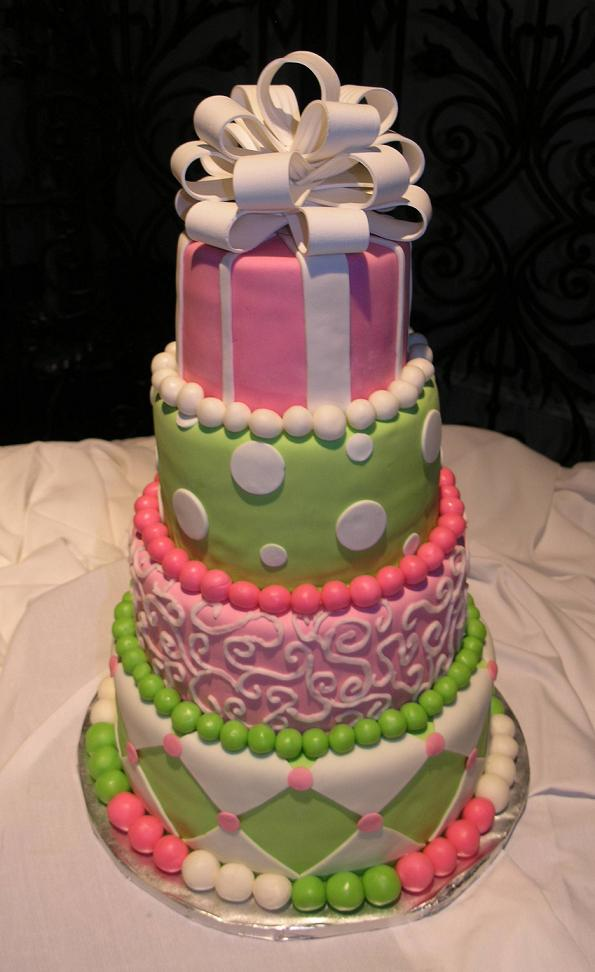 Large Colorful Wedding Cake Jpg I think the cake was adorable and there is
