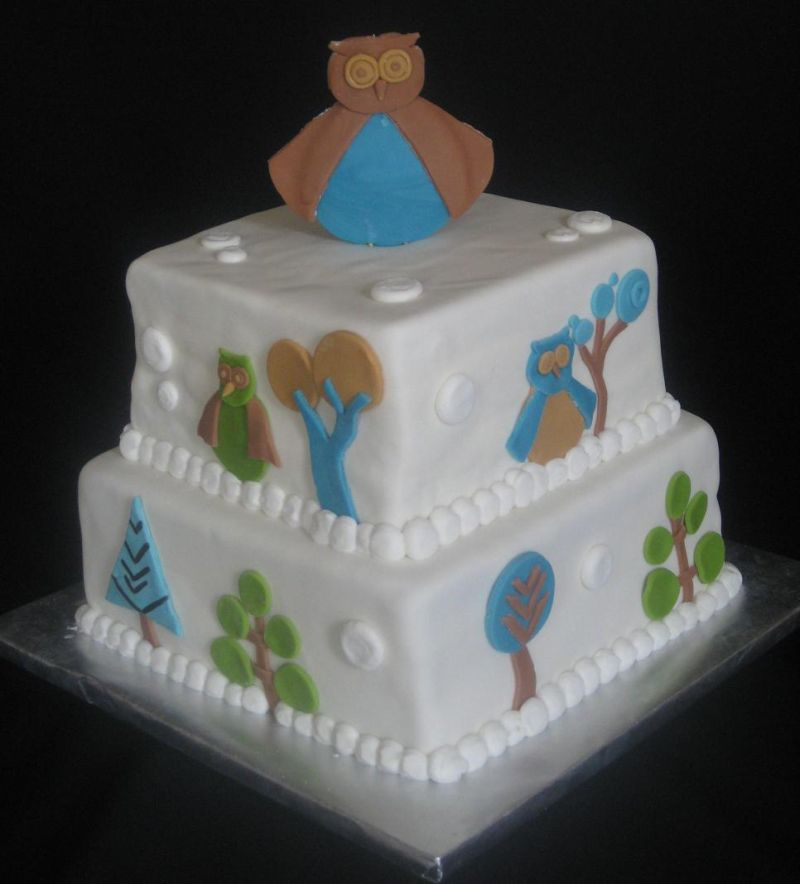 Dwell Baby Shower Cake Image. U201d