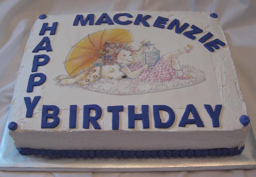 ... cake was an edible picture cake made special for Mackenzie's birthday