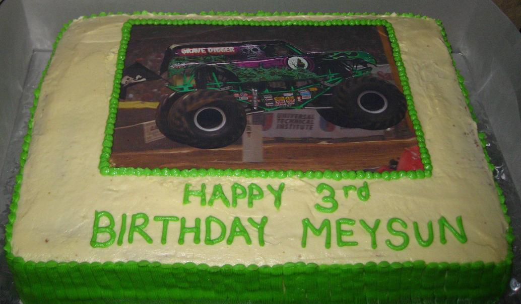 Monster Truck Cake Image