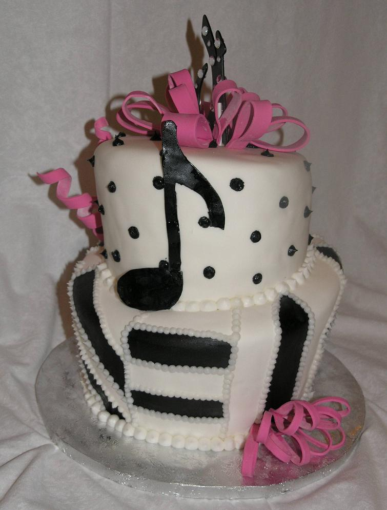 The music cake was chocolate and yellow flavor with butter cream icing