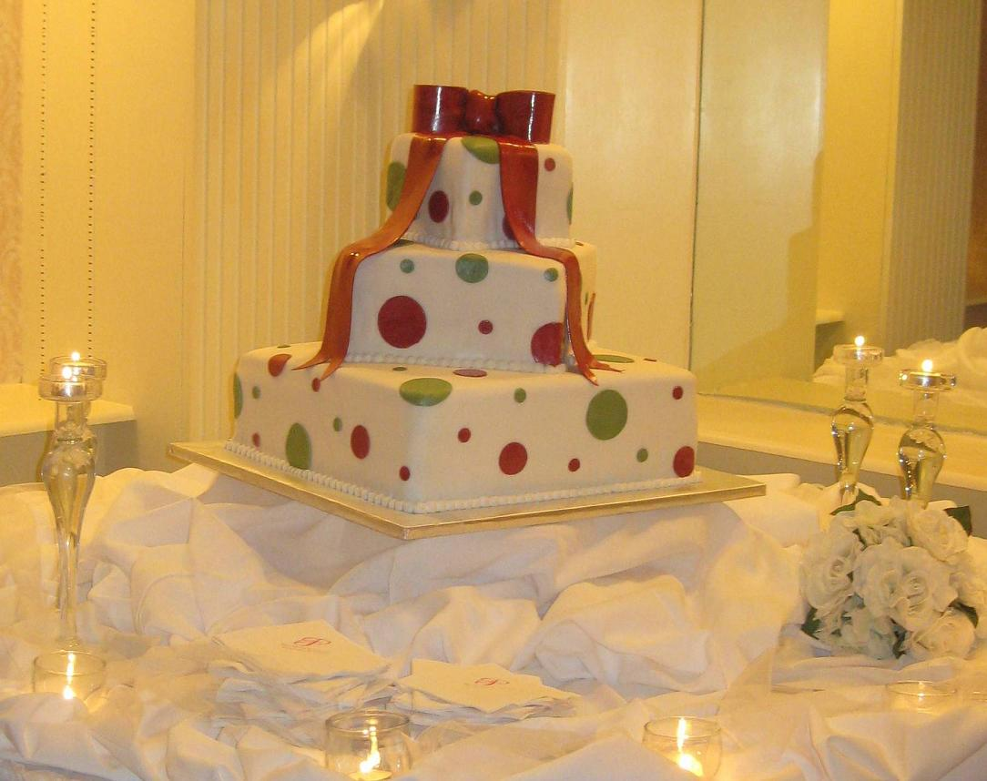large polka dot wedding cake jpg