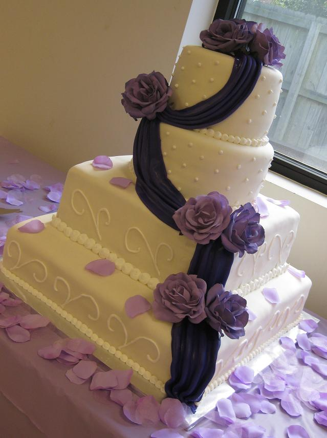 Wedding Cake Design Ideas wedding cake with ribbon image Square Wedding Cakes Pictures And Design Ideas