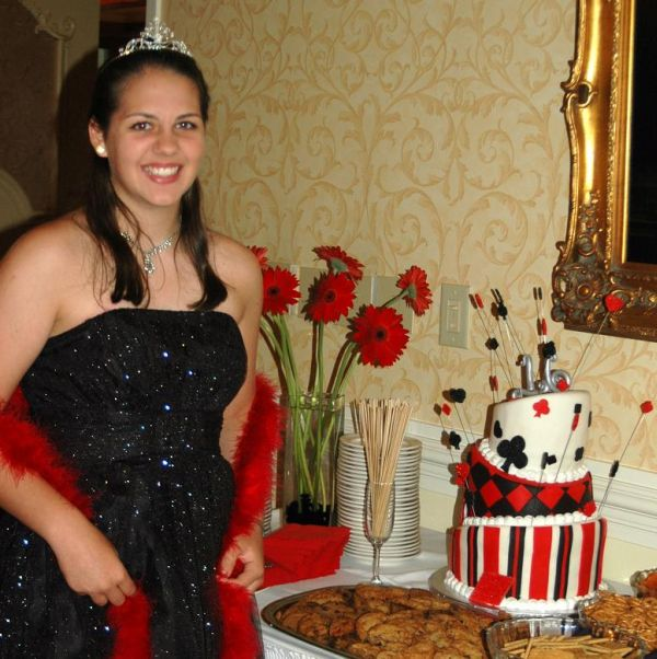 This sweet 16 party ideas theme was casino night at the raleigh