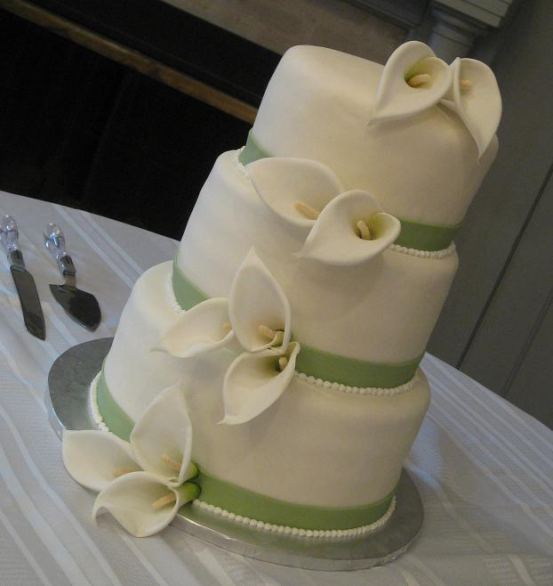 Wedding Cake Flowers Image