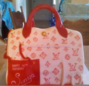 louis vuitton purse cake image