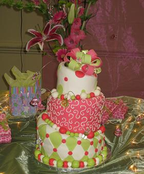 Raleigh, NC ordered this beautiful mad hatter cake for a baby shower ...