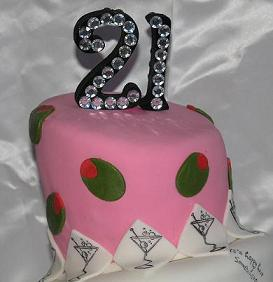 21st birthday cake topper image
