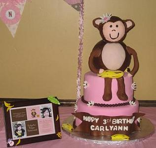 monkey birthday cake image