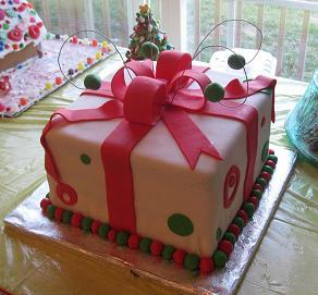 present cake image